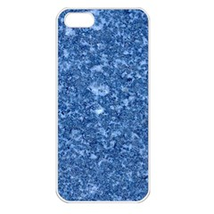 MARBLE BLUE Apple iPhone 5 Seamless Case (White)