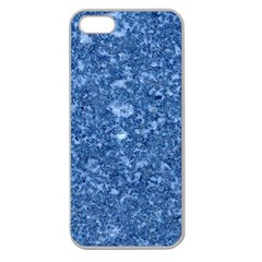 MARBLE BLUE Apple Seamless iPhone 5 Case (Clear)
