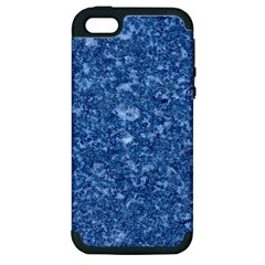 MARBLE BLUE Apple iPhone 5 Hardshell Case (PC+Silicone)