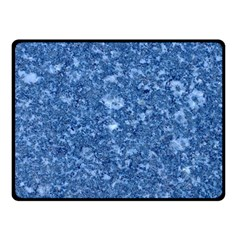 MARBLE BLUE Double Sided Fleece Blanket (Small)
