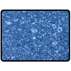 Marble Blue Double Sided Fleece Blanket (large)