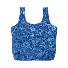MARBLE BLUE Full Print Recycle Bags (M)