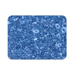 MARBLE BLUE Double Sided Flano Blanket (Mini)