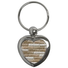 LIGHT BRICK WALL Key Chains (Heart)