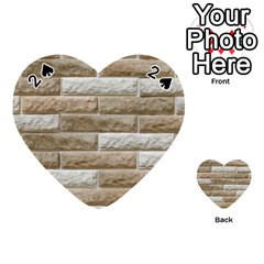 Light Brick Wall Playing Cards 54 (heart)