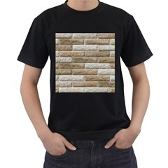 LIGHT BRICK WALL Men s T-Shirt (Black)