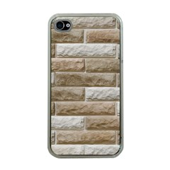 LIGHT BRICK WALL Apple iPhone 4 Case (Clear)