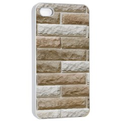LIGHT BRICK WALL Apple iPhone 4/4s Seamless Case (White)
