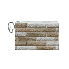 LIGHT BRICK WALL Canvas Cosmetic Bag (S)