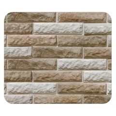 Light Brick Wall Double Sided Flano Blanket (small)