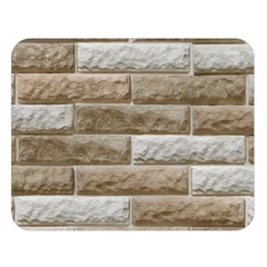 LIGHT BRICK WALL Double Sided Flano Blanket (Large)