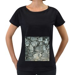 GREY STONE PILE Women s Loose-Fit T-Shirt (Black)