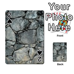 Grey Stone Pile Playing Cards 54 Designs