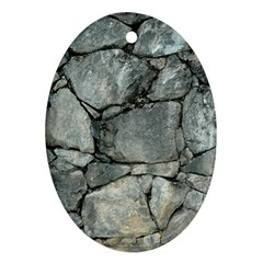 GREY STONE PILE Oval Ornament (Two Sides)