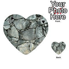 Grey Stone Pile Playing Cards 54 (heart)