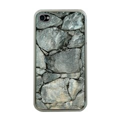 GREY STONE PILE Apple iPhone 4 Case (Clear)