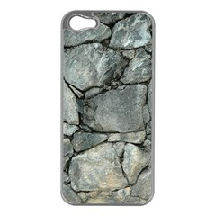 GREY STONE PILE Apple iPhone 5 Case (Silver)