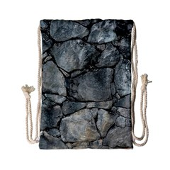 GREY STONE PILE Drawstring Bag (Small)