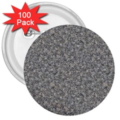 GREY MARBLE 3  Buttons (100 pack)