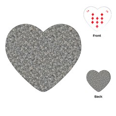 Grey Marble Playing Cards (heart)