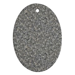 GREY MARBLE Oval Ornament (Two Sides)