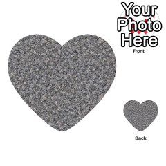GREY MARBLE Multi-purpose Cards (Heart)