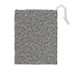 Grey Marble Drawstring Pouches (extra Large)