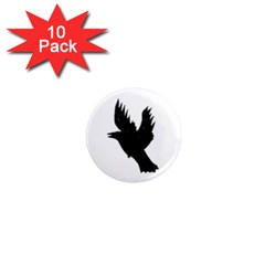 CROW 1  Mini Button Magnet (10 pack)