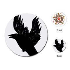 Crow Playing Cards (round)