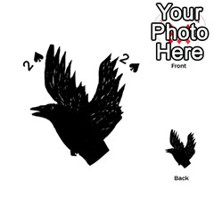 Crow Playing Cards 54 (heart)