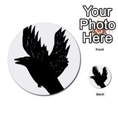 Crow Multi-purpose Cards (Round)