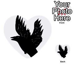 Crow Multi-purpose Cards (Heart)