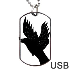 Crow Dog Tag Usb Flash (one Side)