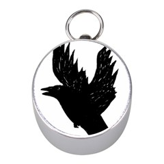 Crow Mini Silver Compasses