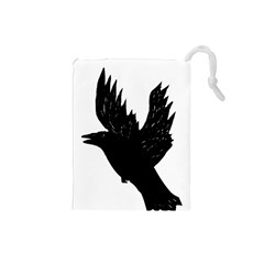 Crow Drawstring Pouches (small)