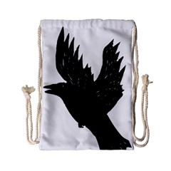 Crow Drawstring Bag (small)