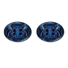 Ems Blue Cufflinks (oval)