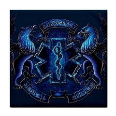 Ems Blue Tile Coasters
