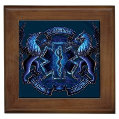 Ems Blue Framed Tiles