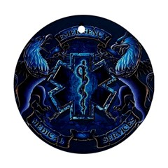 Ems Blue Round Ornament (two Sides)