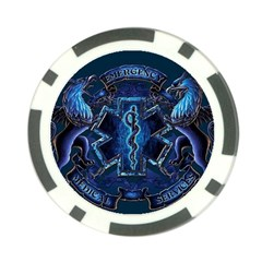 Ems Blue Poker Chip Card Guards