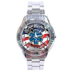 American Paramedic Stainless Steel Men s Watch