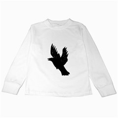 Hovering crow Kids Long Sleeve T-Shirts