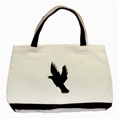 Hovering crow Basic Tote Bag (Two Sides)