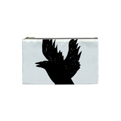 Hovering crow Cosmetic Bag (Small)