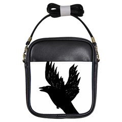 Hovering crow Girls Sling Bags