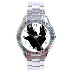 Hovering crow Stainless Steel Men s Watch