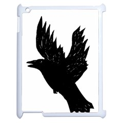 Hovering crow Apple iPad 2 Case (White)