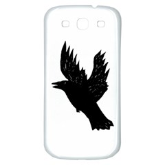 Hovering crow Samsung Galaxy S3 S III Classic Hardshell Back Case
