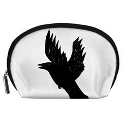 Hovering crow Accessory Pouches (Large)